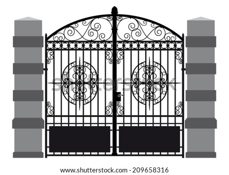 iron gate 7 - stock vector
