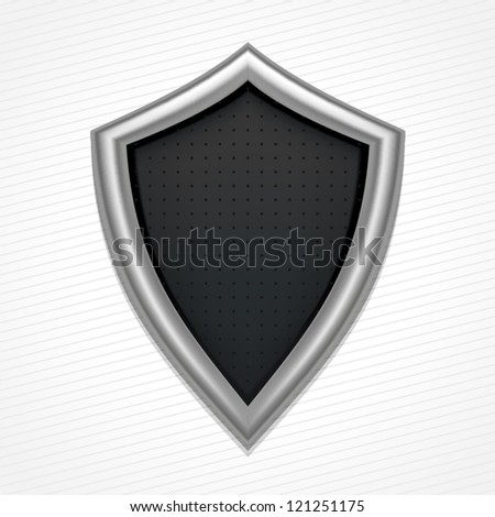 Iron shield, vector art