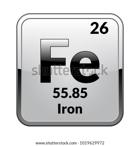 Iron symbolchemical element periodic table on stock vector 1019629972 shutterstock - Iron on the periodic table ...