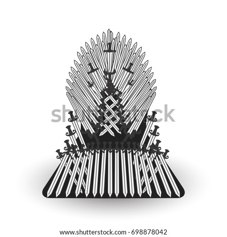Iron Throne Silhouette Game Stock Images, Roy...