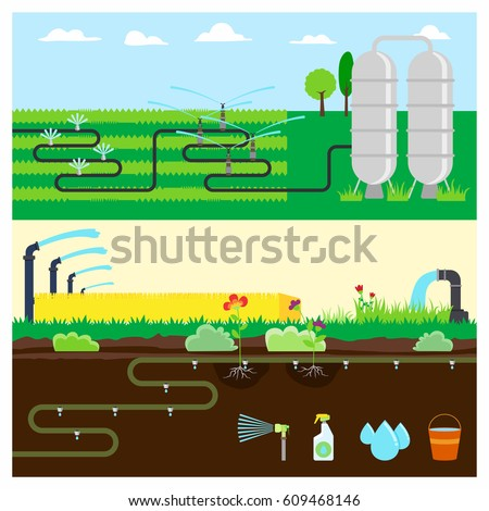 Irrigation stock vectors images vector art shutterstock - Logo lavage machine ...