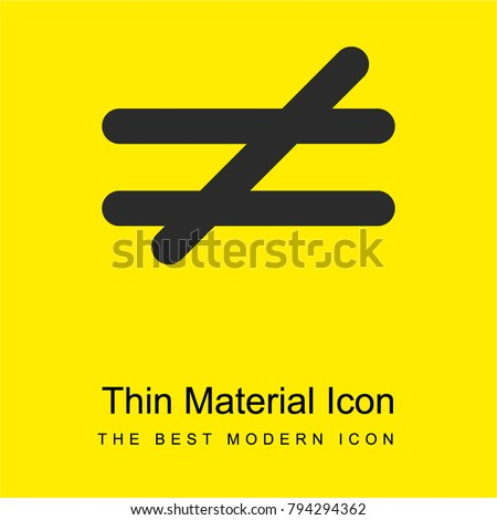 Not Equal Mathematical Symbol Bright Yellow Stock Vector 794294362