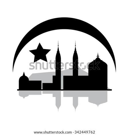 Islam icon - stock vector