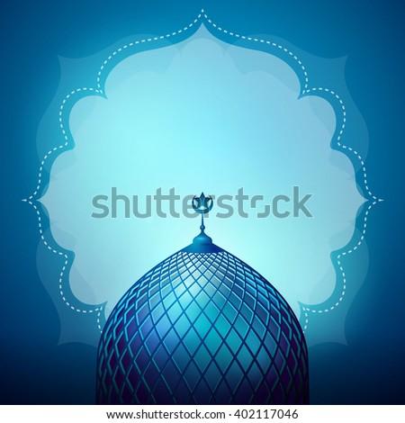 Islamic design banner background template - stock vector