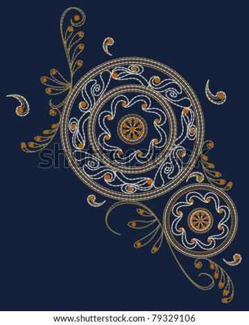 Islamic Embroidery Pattern - stock vector