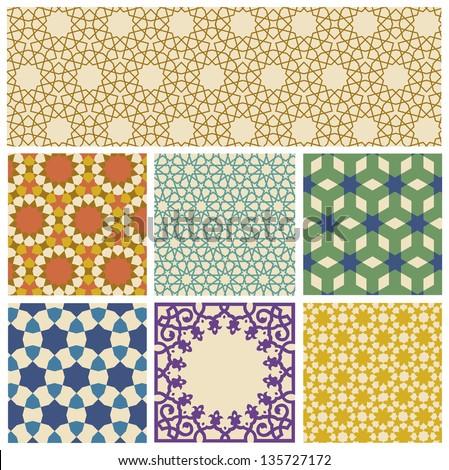 Islamic geometrical pattern in eps10 format - stock vector