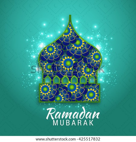Islamic greeting card ramadan mubarak stock vector 425517832 islamic greeting card of ramadan mubarak m4hsunfo