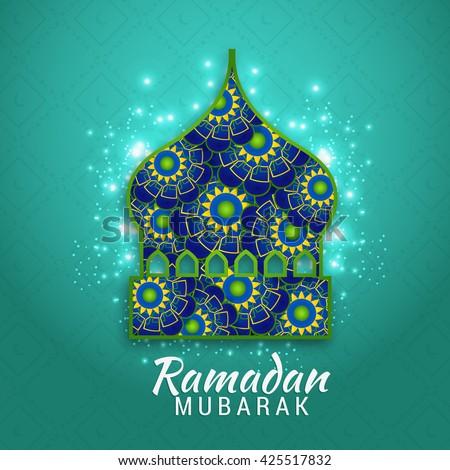 Islamic greeting card ramadan mubarak stock vector 425517832 islamic greeting card of ramadan mubarak m4hsunfo Choice Image