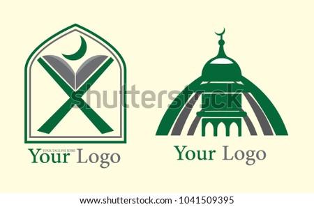 Islamic Icons Symbols Logo Vector Collection Stock Vector 1041509395