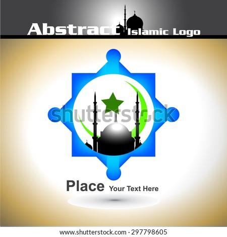 Islamic Logo Shiny Color Abstract Vector Stock Vector 297798605