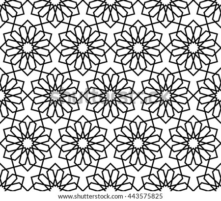 Islamic Pattern, Abstract Geometric Pattern Vector, Arabesque Pattern