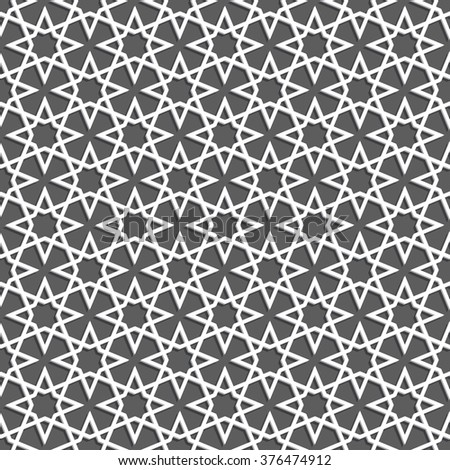 Islamic pattern. Seamless vector geometric background in arabian style