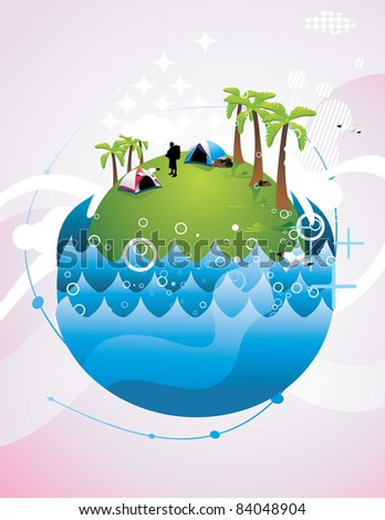 island and water vector