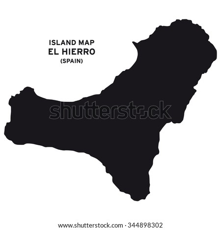 Island Map El Hierro Spain Stock Photo Photo Vector Illustration