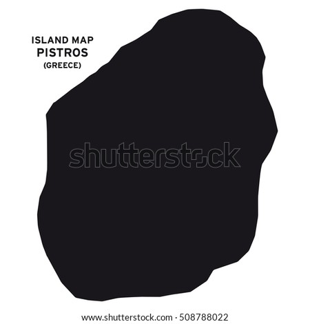 Island map of Pistros (Greece)
