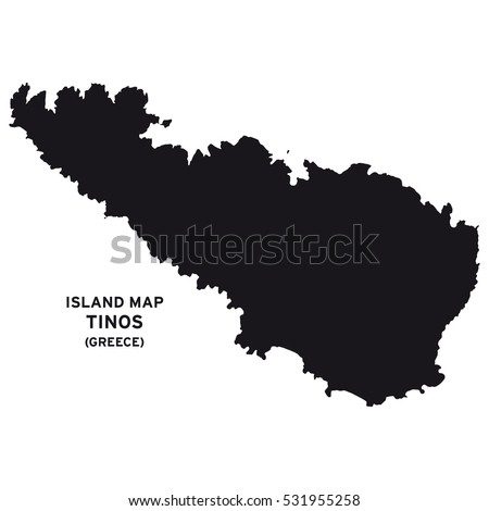 Island Map Tinos Greece Stock Vector 531955258 Shutterstock