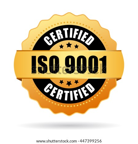 Iso 9001 standard certified icon vector on white background