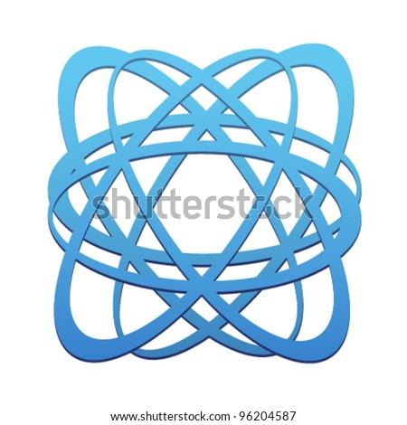 Isolated abstract Business symbol. Blue lines in ellipse shape. Design element. Vector illustration on white background