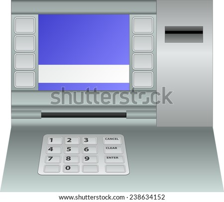 isolated atm panel  - stock vector