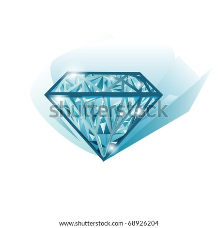 Isolated beautiful lighting jewel vector diamond - stock vector