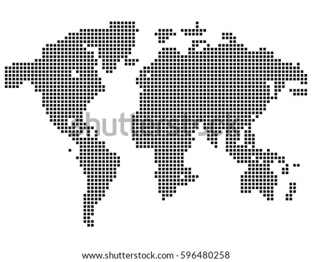 Isolated black color worldmap dots on vectores en stock 596480258 isolated black color worldmap of dots on white background earth vector illustration gumiabroncs Choice Image