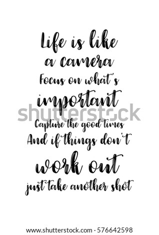 Quotes About Whats Important In Life Unique Isolated Calligraphy On White Background Quote Stock Vector