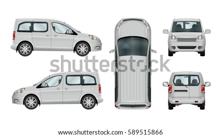 Pickup Truck Vector Template Isolated Car Stock Vector 501830299 ...