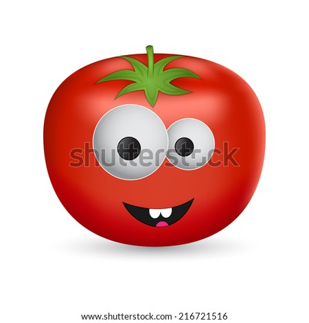 Isolated cartoon tomato. EPS10 vector - stock vector