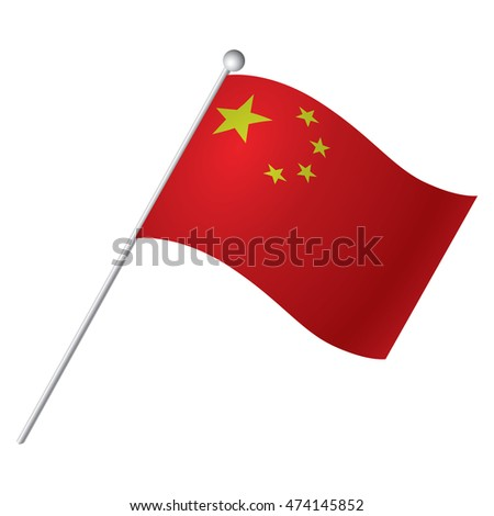 Isolated Chinese flag, Vector illustration