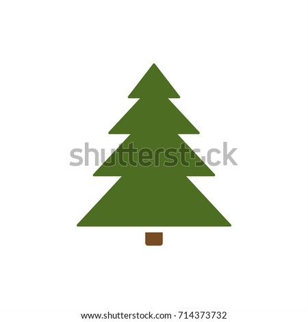 isolated christmas tree icon