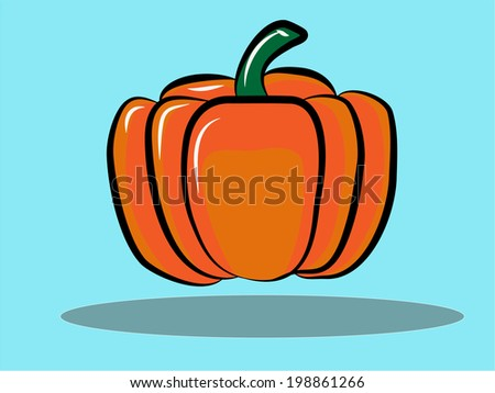 Isolated close - up of a realistic pumpkin  - stock vector