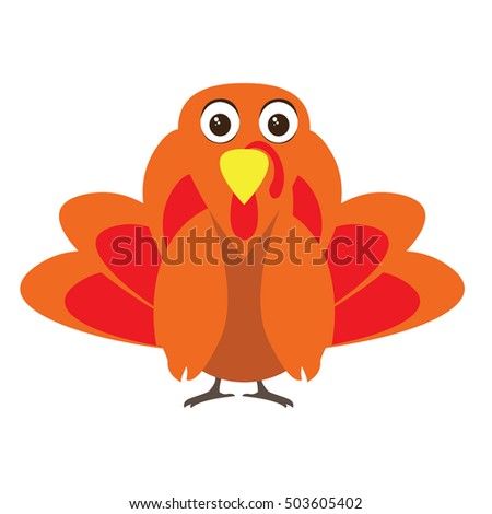 Isolated colored turkey, Thanksgiving day vector illustration