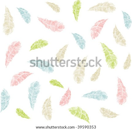 isolated colorful feathers background