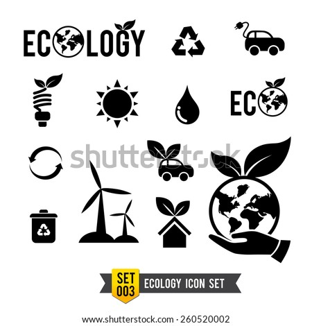 Isolated ecology eco concept icon set vector illustration