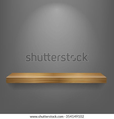 isolated Empty shelf for exhibit. Vector illustration.