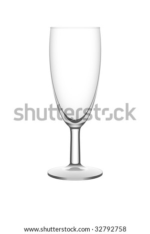 Isolated empty vector champagne flute - stock vector