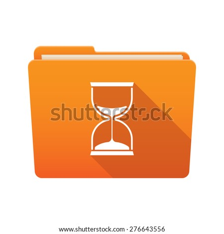 Isolated file folder icon with a sand clock - stock vector