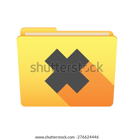 Isolated file folder icon with an irritating substance sign - stock vector
