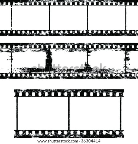 Isolated film frame vector collection - stock vector