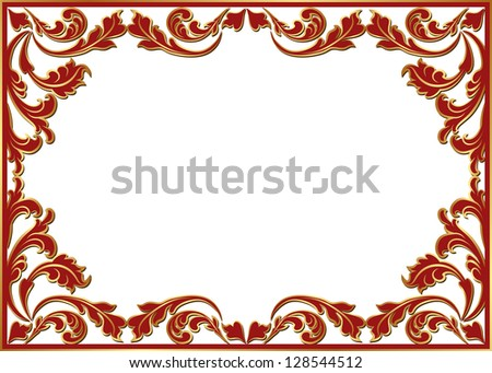 isolated floral frame - stock vector