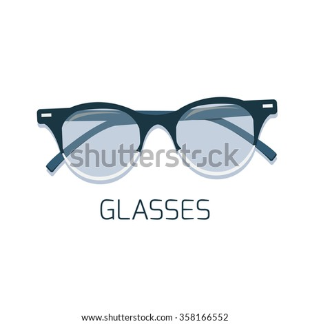 Isolated glasses. Vector illustration - stock vector