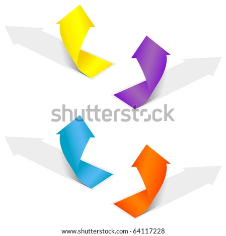 Isolated grow arrows stat financial graph set 03. Vector illustration - stock vector