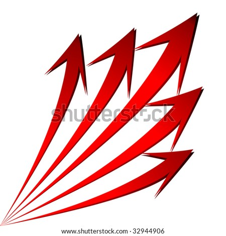 isolated grow arrows stat financial graph vector illustration - stock vector
