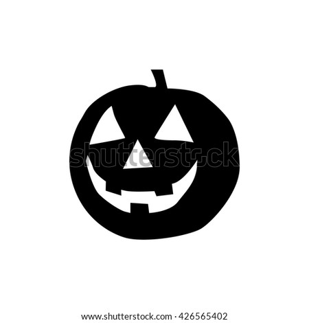 isolated halloween silhouette on white background