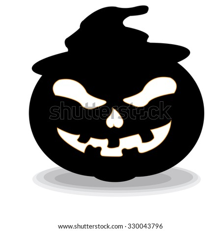 Isolated halloween traditional object on a white background