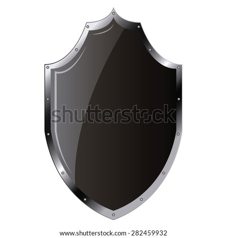 Isolated heraldry shield on a white background. Vector illustration