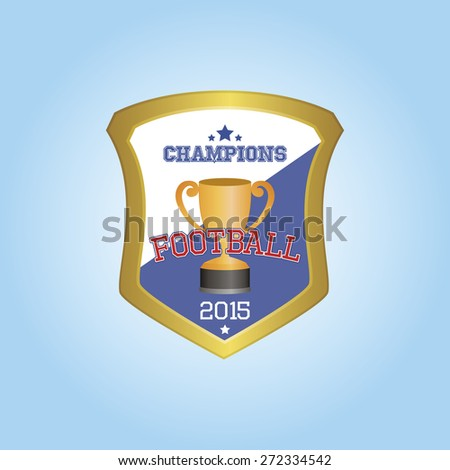 Isolated Heraldry Shield Trophy Text Vector Stock Vector 2018