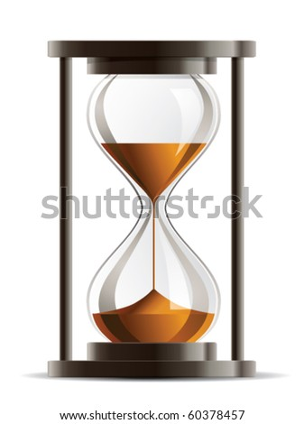 Isolated Hourglass Vector - stock vector