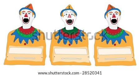 Isolated Illustration of Clown Fair Ground Game - stock vector