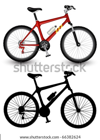 Isolated image of a bike. Vector illustration.